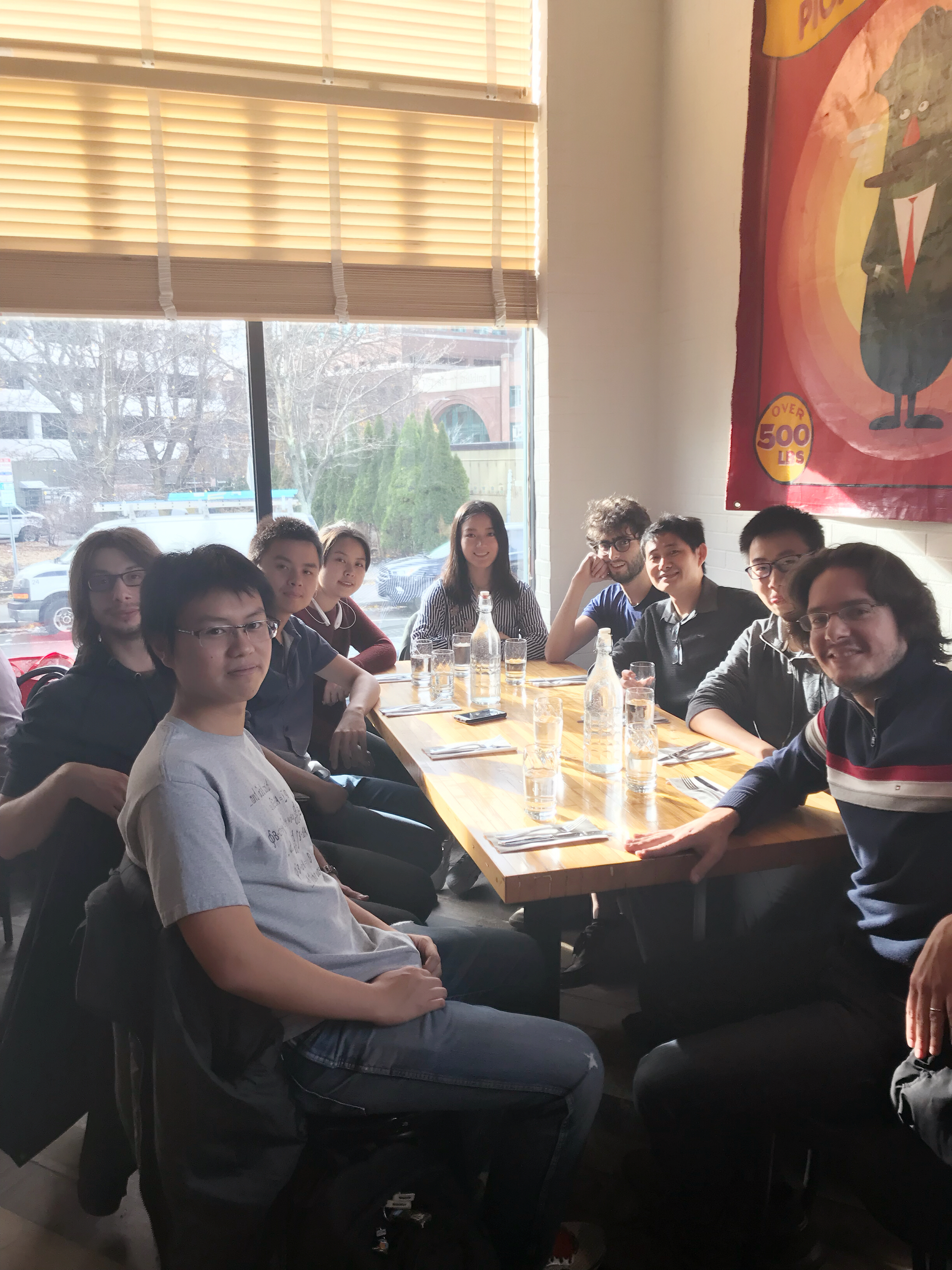 Group lunch at Mamaleh's